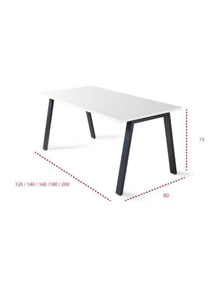Medidas mesa de oficina Atrio de color personalizado de JGorbe