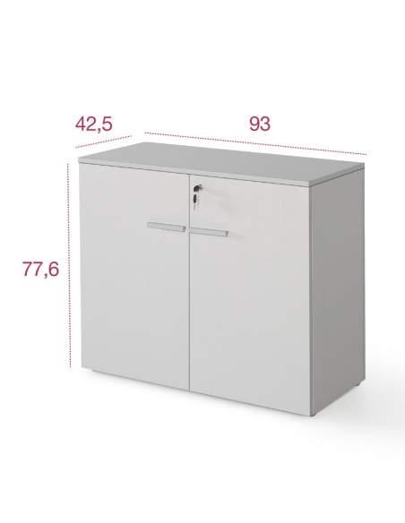 Medidas armario madera bajo con puertas de color personalizado de jgorbe