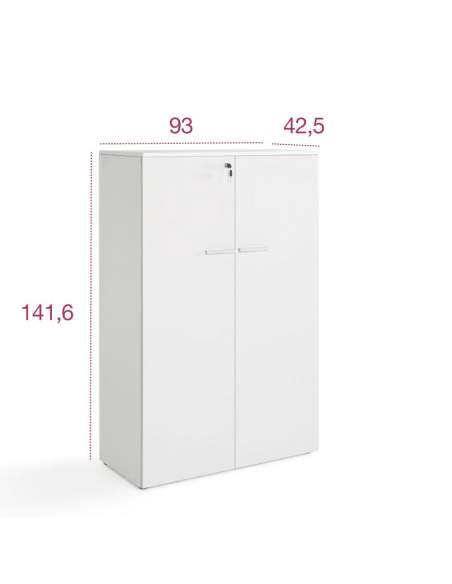 Medidas armario oficina mediano con puertas de colrores de jgorbe