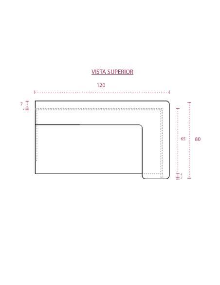 Medidas mostrador recepción Basic para esquina de jgorbe