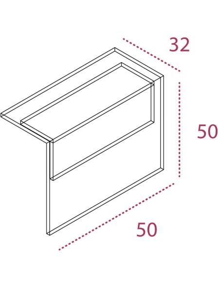 Medidas panel decorativo para mostrador recepcion Basic de JGorbe con color personalizado