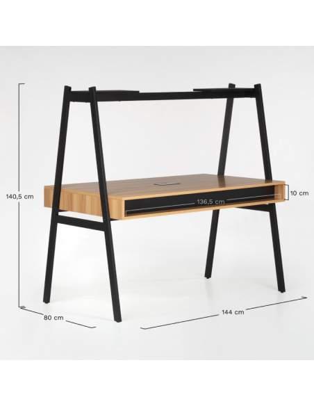 Medidas escritorio doble oficina Mebh blanco