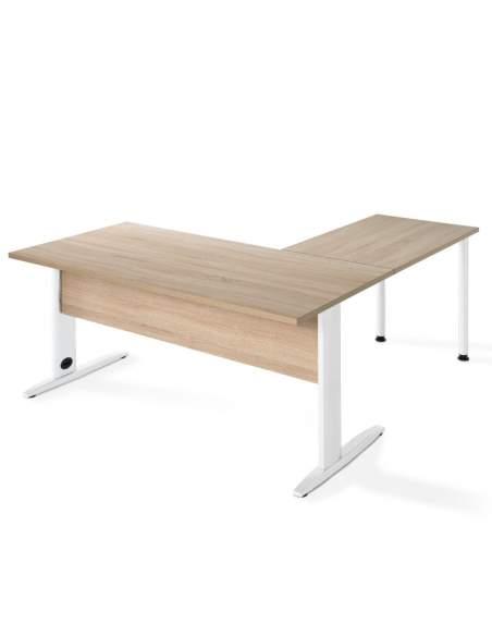 Mesa escritorio esquina Aneto olmo de jgorbe