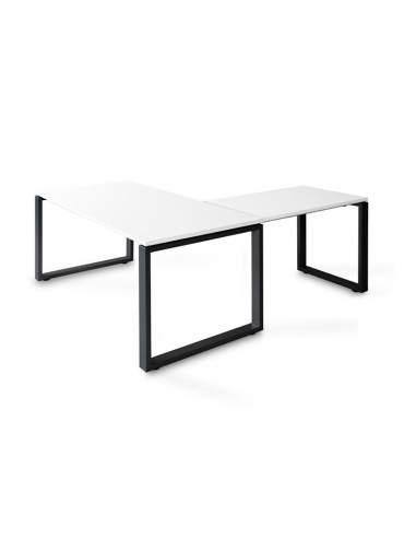 Mesa escritorio esquina Skala de JGorbe en blanco