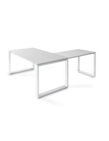 Mesa escritorio esquina Skala de JGorbe en gris