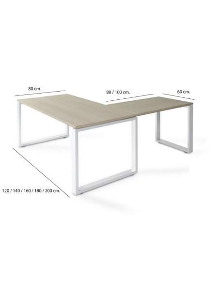 Medidas mesa escritorio esquina Skala de JGorbe