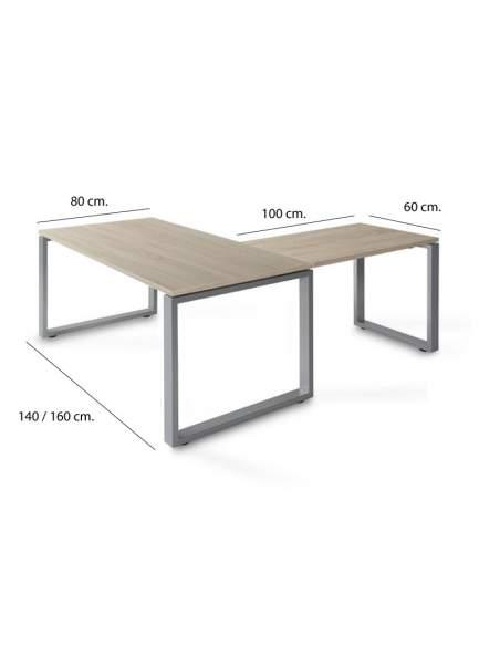 Medidas mesa escritorio esquina Skala con envío express