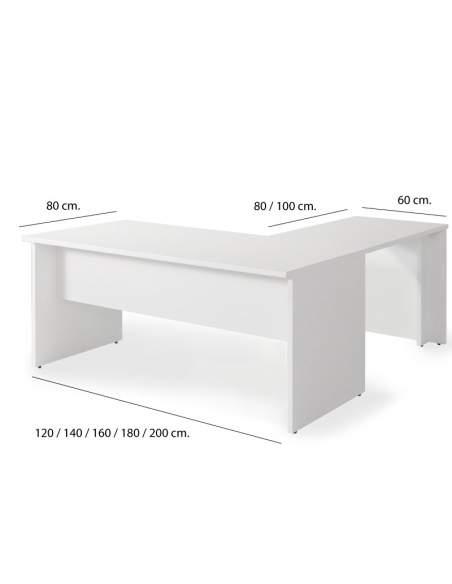 Medidas escritorio esquinero serie Color de Jgorbe