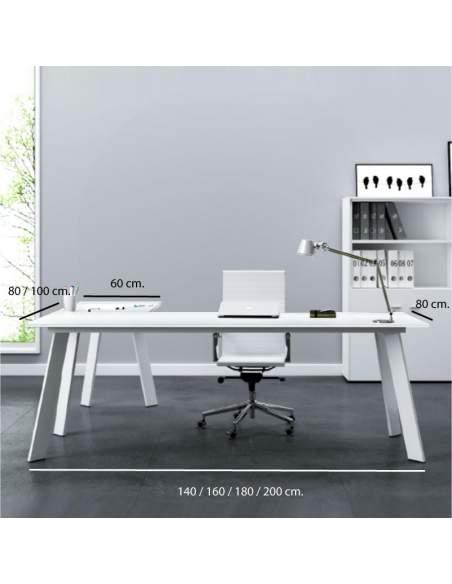 Medidas escritorio esquinero blanco Rec de AIC con entrega rápida