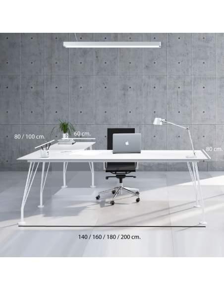 Medidas escritorio esquinero Win de AIC en varios colores