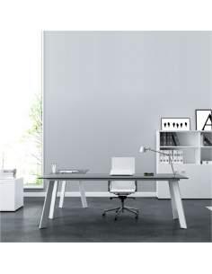 Mesa escritorio L serie Play de AIC en color negro