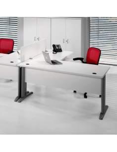 Mesa escritorio en L serie Euro 2000 de Euromof con entrega rápida