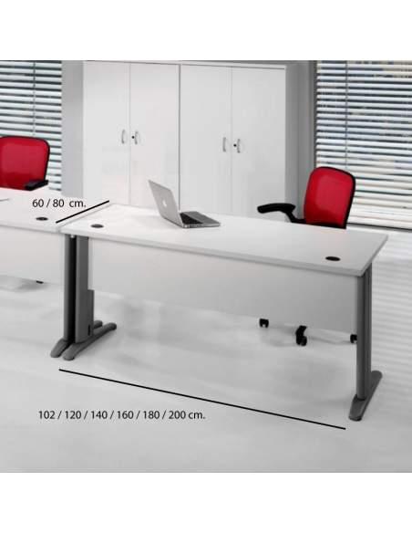 Medidas mesa de oficina euro 3000 de euromof con entrega rápida