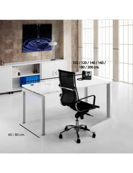 Medidas mesa escritorio serie Euro 5000 de Euromof con entrega rápida