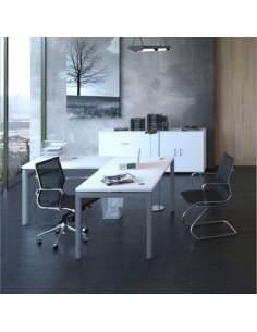 Mesa escritorio esquina Euro 5000 de Euromof con entrega express