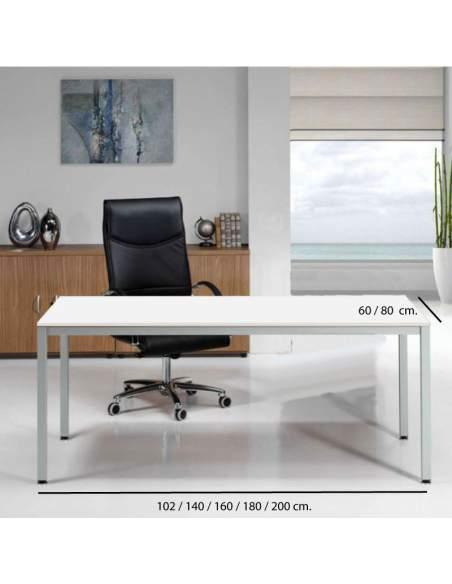 Medidas mesa escritorio para oficina Euro 5100 de Euromof