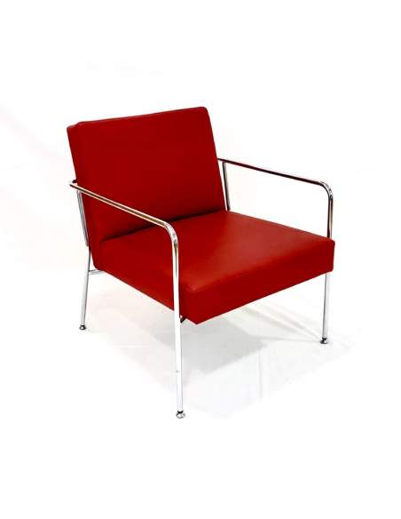 Butaca Steel de Tecno-ofiss en polipiel roja