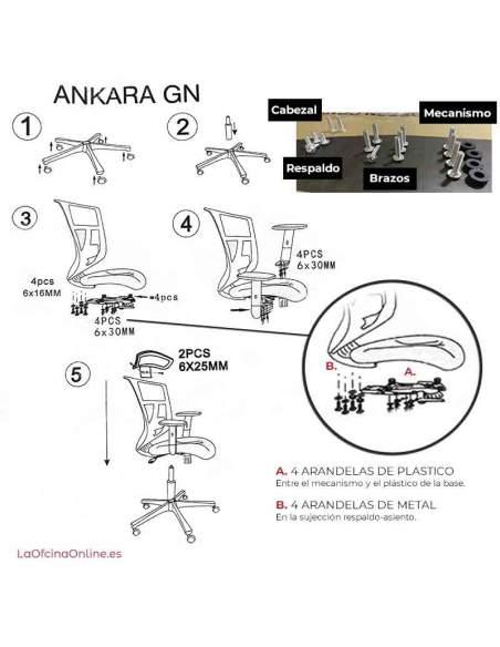 instrucciones Nueva silla ankara