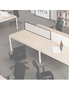 Panel separador para mesa coworking lite de Kesta