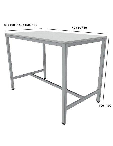 Medidas mesa alta de trabajo Lite