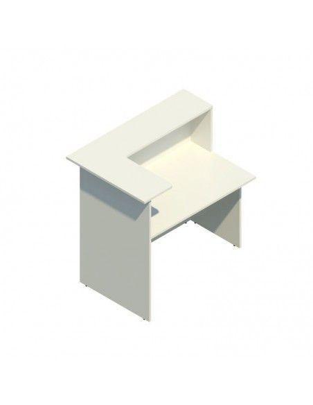 Mostrador recepcion barato Basic para esquina de JGorbe en blanco
