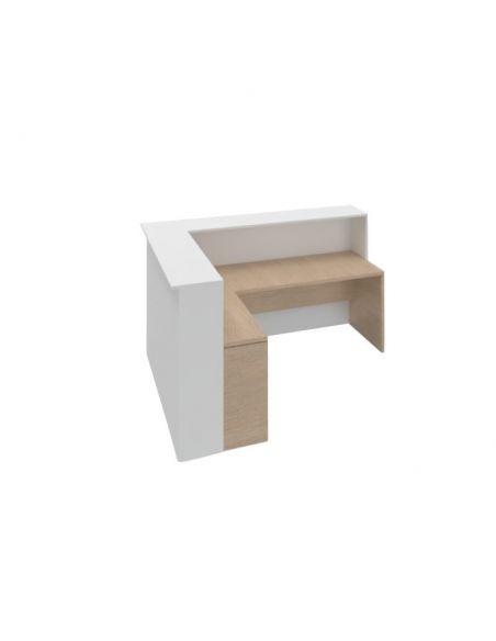 Mostrador en l con mesa modelo Enter