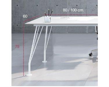 Medidas ala auxiliar de la mesa de trabajo win de aic