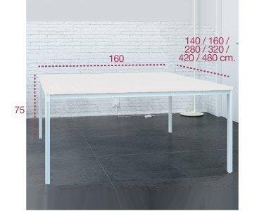 Medidas bench isla de trabajo serie arco de aic