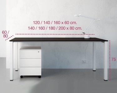 Medidas mesa de oficina arco de aic