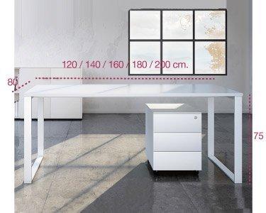 Medidas escritorio de oficina serie Marco de aic