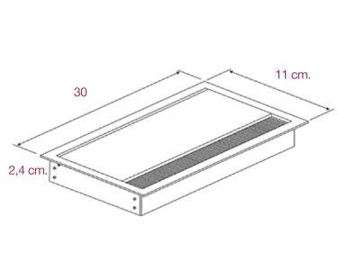 Medidas tapa pasacables rectangular de aic