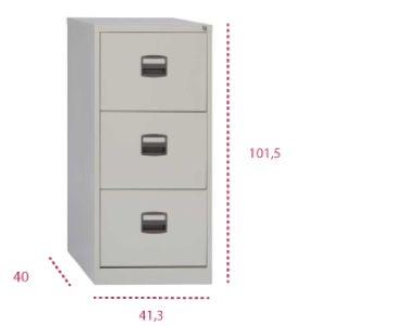 Medidas archivador oficina light 3 cajones pfa de bisley