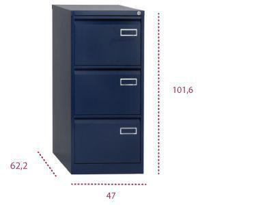 medidas mueble archivador 3 cajones metálico psf de bisley