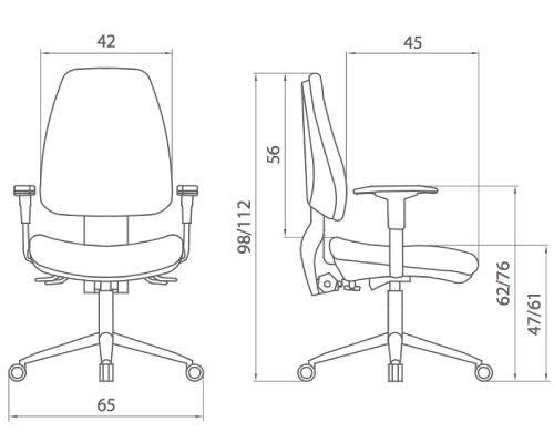 Medidas silla oficina adapta eco de dileoffice