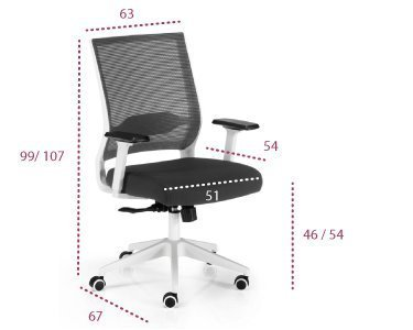 Medidas silla con ruedas modelo Sidney de euromof