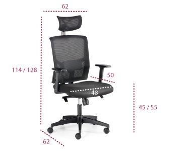 Medidas silla de oficina Viena económica de euromof