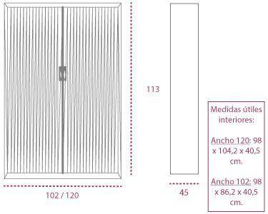 Medidas armario metálico con ruedas rav1050 de gapsa