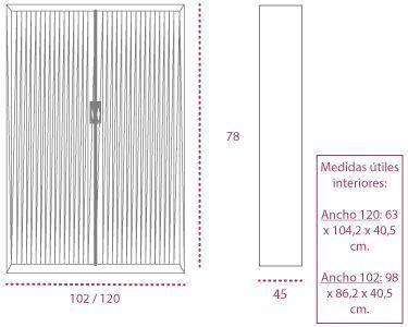 Medidas armarios metálicos con ruedas persiana vertical rav1600 de gapsa