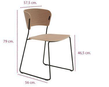 Medidas de silla de diseño pie varilla arc de inclass