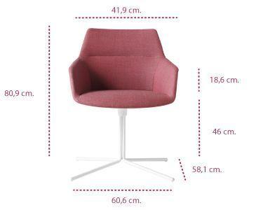 Medidas sillón dunas xs con base plana inclass