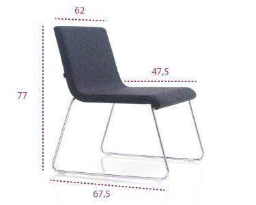 Medidas silla de sala de espera Etnia de inclass