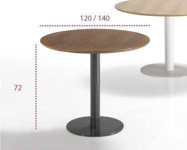 Medidas mesa redonda para comedor flat de inclass
