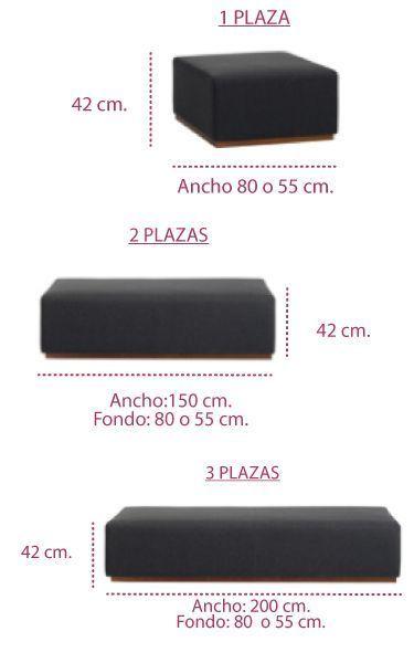 Medidas poufs para sofa de oficina pau de inclass