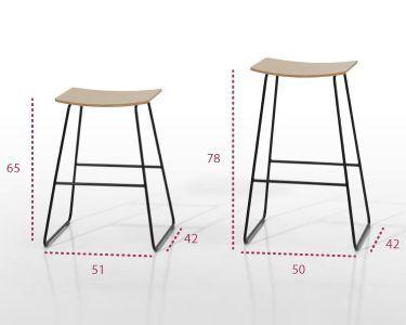 Medidas silla alta taburete de diseño tao de inclass