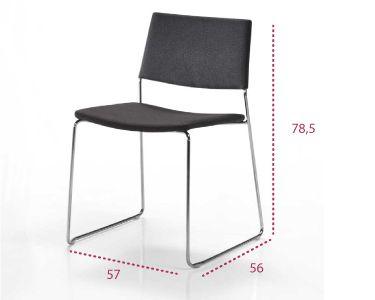 Medidas silla polivalente de pie varilla ten de inclass