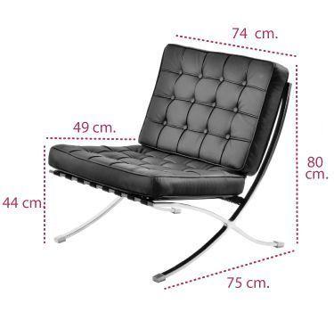 Medidas sillón Barcelona de intacor