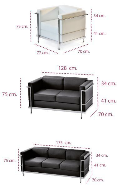 Medidas sofá clásico modelo ágora de intacor