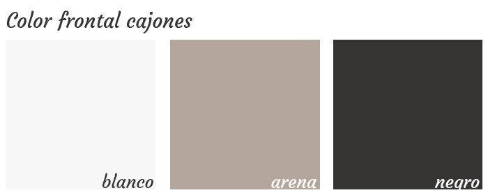 Colores acabados frontal cajones serie G3