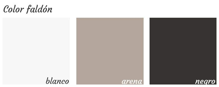 Colores acabados para el faldón de la mesa G3