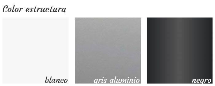 Colores estructura mesa Aneto